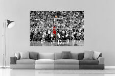 MICHAEL JORDAN SHOOTING NBA BASKETBALL LEGEND Poster Grand format A0 Large Print