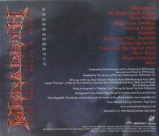Megadeth: The World Needs A Hero PROMO MUSIC AUDIO CD SANSP-84503 Album 12 track