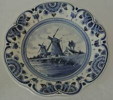 DELFTS BLUE Dutch HANDMADE Holland AG Delft Scenic WINDMILL BOWL Wall Hanging