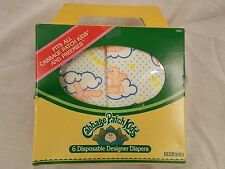 Vintage CABBAGE PATCH KIDS & PREEMIES DESIGNER DIAPERS COLECO (5) in box