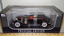 1/18 ANSON PRESTIGE EDITION 1934 PACKARD COUPE BLACK with RED TRIM rd
