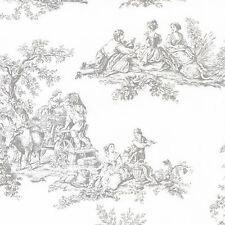 Country Harvest Gray Toile Wallpaper Double Roll Bolts FREE SHIPPING