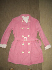Timberland dusky pink cotton/linen 3/4 length double breasted coat,jacket,L/14