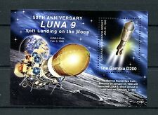 Gambia 2016 MNH LUNA 9 Soft Landing on Moon 50th Anniv 1v S/S Space Stamps