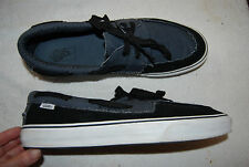 Black Suede & Dark Gray Canvas VANS Top Sider Style Casual Shoes 13