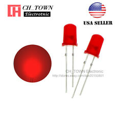 100pcs 5mm Diffused Red-Red Round Top LED F5 DIP Light Emitting Diodes