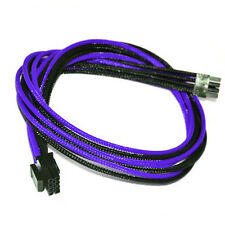 8pin pcie Purple Black Sleeved PSU Cable EVGA Silverstone Coolermaster Seasonic