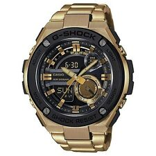 CASIO G-SHOCK G-STEEL MENS WATCH GST-210GD-1A GOLD METAL BAND GST-210GD-1ADR