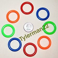10 BRIGHT COLORFUL PLASTIC RINGS BIRD PARROT FOOT TOYS PARTS