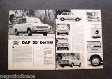 AX09 - Clipping-Ritaglio -1969- PROVE SU STRADA , DAF 55 BERLINA