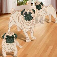 REALISTIC PUGS 10  MACHINE EMBROIDERY DESIGNS CD 2 SIZES