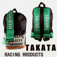 NEW Canvas Backpack Schoolbag Sport Bag for TAKATA Racing Bike Harness Bride