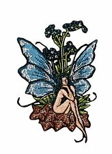 Amy Brown Forget Me Not Fairy Embroidered Iron On Applique Patch p584