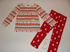 Gymboree Holiday Cozy Cutie Girls Size 2T Dot Shirt Top Snowman Leggings NWT NEW
