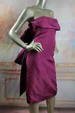 $4010 New MARC JACOBS Strapless Purple Large Bow Silk Bustier Corset Dress 10