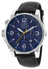 20131 Invicta Men's I-Force Chronograph Watch Textured Dial Leather Strap Watch