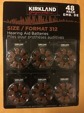 48ct Kirkland Signature Hearing Aid Batteries #312 Zinc Air Long Lasting NEW!