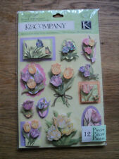 K & CO SUSAN WINGET SPRING BLOSSOM TULIPS GRAND ADHESION STICKERS BNIP