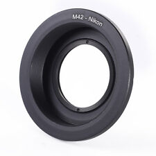 NEW M42 screw-mount Lens to Nikon AI F Mount Adapter (with glass) infinity