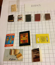 Lot 11 dollhouse miniatures books journal stamps diary paper dolls Sears stories