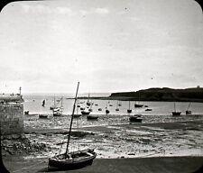 PORTRIEUX c. 1906 - Le Port - Bretagne Positif Verre 10 x 8 - 122