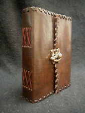 Handmade Leather Notebook Journal Blank Diary with Cartridge Paper & Brass Catch