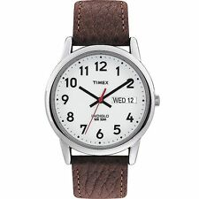 Brand New Timex Men's T20041 Easy Reader Brown Leather Strap Watch