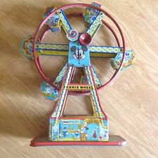 Vintage Mickey Mouse Key Wind Up Metal Toy Disneyland Ferris Wheel