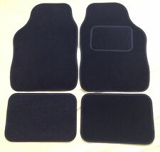 CAR FLOOR MATS FOR PEUGEOT 107 108 207 307 RCZ 2008 3008 - BLACK WITH BLACKTRIM
