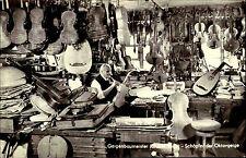 Mittenwald Bayern AK ~1950/60 Geigen Baumeister Johann Reiter bei der Arbeit