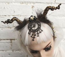 MALEFICENT GOTHIC DEVIL RAM HORNED FAIRY WICCAN PAGAN HALLOWEEN CROWN HEADBAND