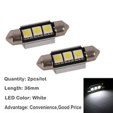 VW Bora 99-06 Bright Canbus White LED Number Plate 36mm C5W 3 SMD Bulbs
