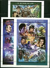 MALI 1997 STAR WARS MOVIES MINT SET OF 27 STAMPS IN 3 SHEETS - $32.50 VALUE!