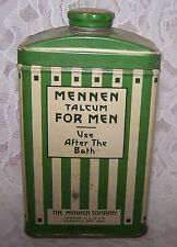 VINTAGE MENNEN AFTER BATH FOR MEN TALC TALCUM POWDER TIN