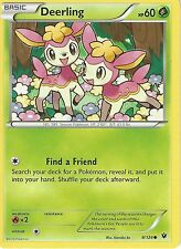 POKEMON XY FATES COLLIDE CARD - DEERLING 8/124
