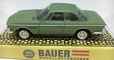 BAUER BMW COUPE 3.0 CS LIGHT GREEN METALLIC HO SLOT CAR AURORA STYLE CHASSIS