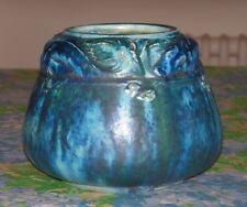 Rare vase en grès de Pierrefonds à décor d'une frise de poissons