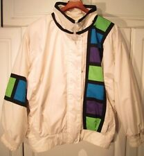 "RARE 80's  VINTAGE Towne London Fog ""FILM STRIP"" MEDIUM Jacket Windbreaker Coat"