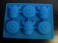 AVENGERS CAPTAIN AMERICA SHIELD BIRTHDAY CANDY MOLD ICE TRAY CUPCAKE FAVOR