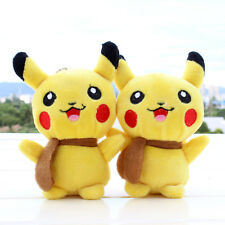 Pokemon Go Pikachu Keyring Keychain Hanging Ball Plush Soft Stuffed Toy Doll UK2