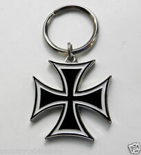 Iron Cross Biker Chopper Motorcycle Keyring Key Keychain Chain 1.5 inches