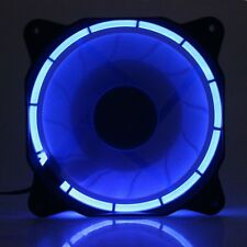 Newest Eclipse Blue Led Slient 12cm 120mm x 25mm DC 12V PC CPU Cooling fan Quiet