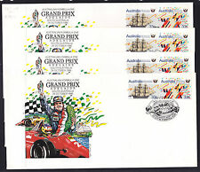 SOUVENIR COVER: 1986 GRAND PRIX SET OF 4 COVERS