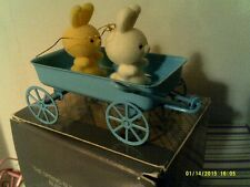 VTG AVON SPRING BUNNY COLLECTION ORNAMENT-BUNNIES WAGON-NEW IN BOX-FREE SHIPPING