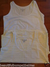 2 X PACK SOUTH MATERNITY WHITE RUCHED POCKET VEST CAMISOLE TOP SIZE 12 BNWT