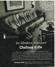 Publicité Advertising 1977 Les canapés Chateau d'Ax