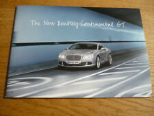 "BENTLEY CONTINENTAL GT PRESS PACK "" Brochure ""  jm"