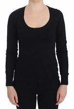 NWT $700 DOLCE & GABBANA Black Cotton Blend Sweater Pullover Top IT36/ US2 /XXS