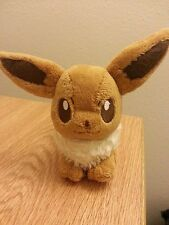 Japanese Pokemon Center Eevee 2006 version Canvas Plush - Hang Tag Only