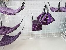 SUPER VIOLET:6pcs cage set-Rat FLUFFY cage set (warm&cozy) washable+metal hooks